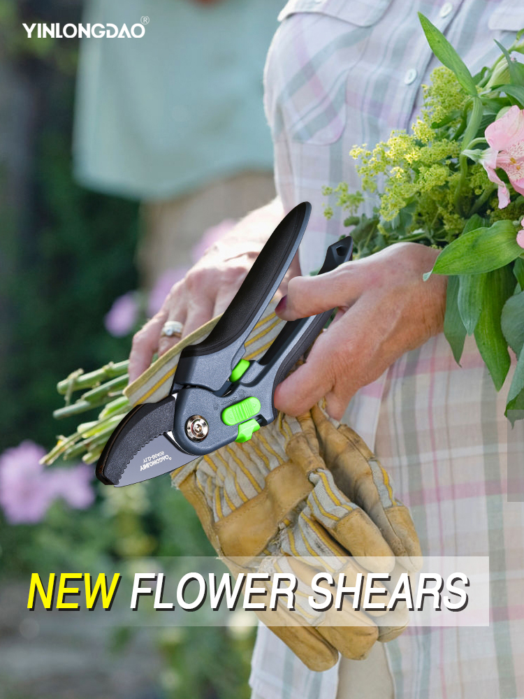 YINLONGDAO Gardening Pruning Shears, Which Can Cut Branches Of 35mm Diameter, Fruit Trees, Flowers,Branches And Scissors