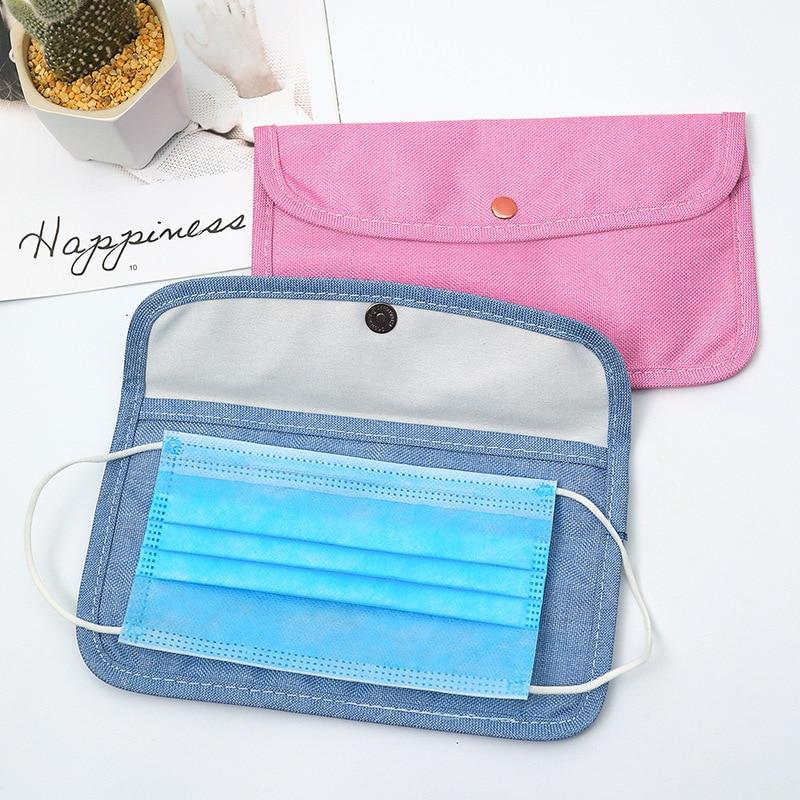 Disposable Mask Case Cloth Storage Bag Mouth Mask Holder Storage Clip Dustproof Face Masks Case Pack Container Storage Organizer(China)