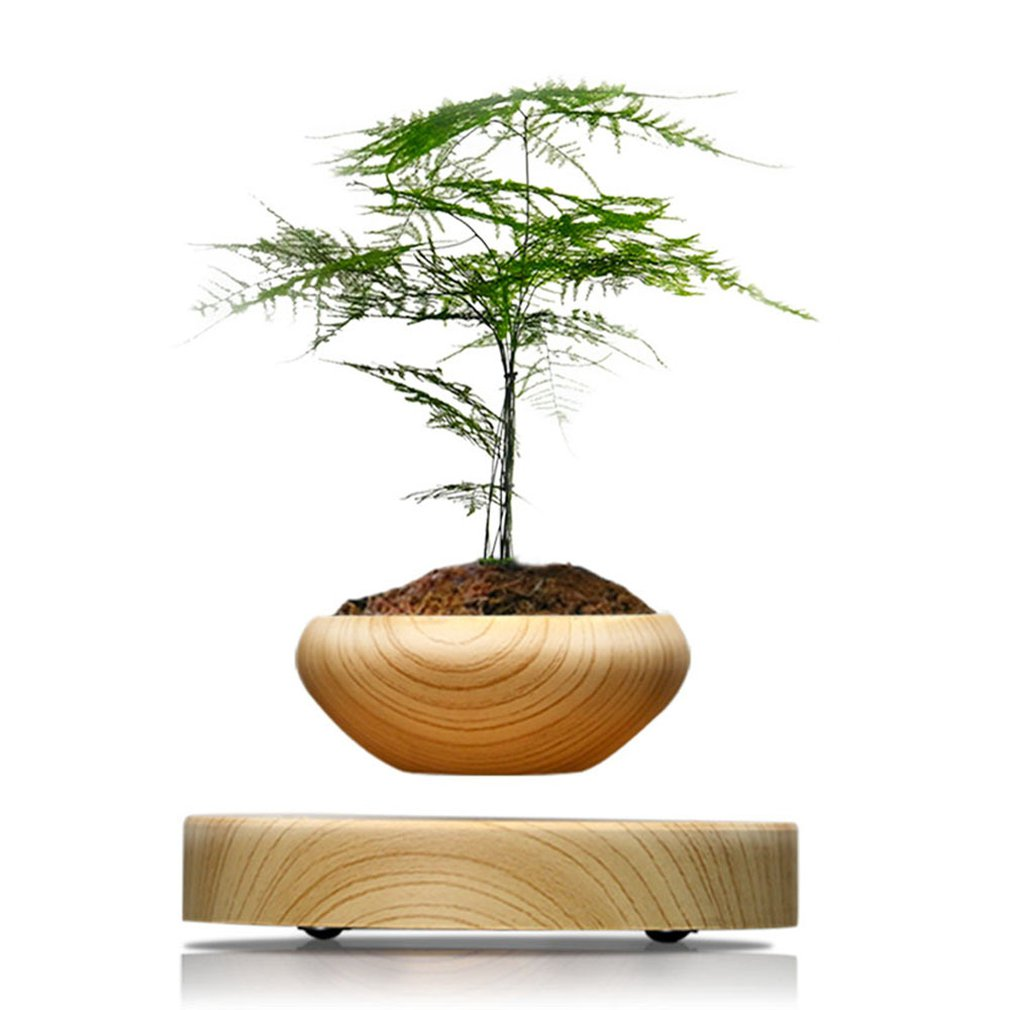 Magnetic Levitation Air Bonsai Suspension Levitating Flower Pot Plant Led Living Room Desktop Decoration