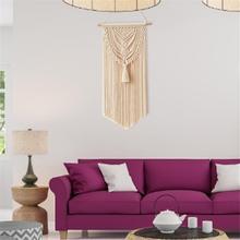 Nordic ręcznie tkane liny bawełniane wiszące gobeliny ścienne czeski ściany rzemiosło dekoracyjne kryty taśmy ścienne makrama dekoracji tanie tanio HANDMADE 100 bawełna Nowoczesne Other