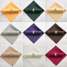 100PCS 48X48CM 18Inch Wedding Decoration Polyester Table Napkins Birthday Party Hotel Banquet Supply Modern linen servetten