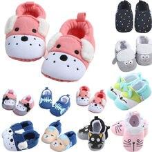 3-11 м/партия, цветная детская обувь, обувь для мальчиков и девочек с мягкой подошвой, с изображением животных, для кроватки, размеры для модных, с рисунком животных, мягкая, зимняя, теплая обувь с закрытым носком