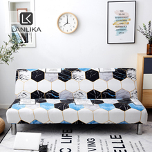 Lanlika 2020 New All inclusive Folding Sofa Bed Cover Tight Wrap Sofa Towel Couch Cover Without Armrest housse de canap cubre