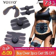 EMS 筋肉刺激トレーナースマートフィットネス腹部トレーニング電気減量のステッカーボディ痩身ベルトユニセックス