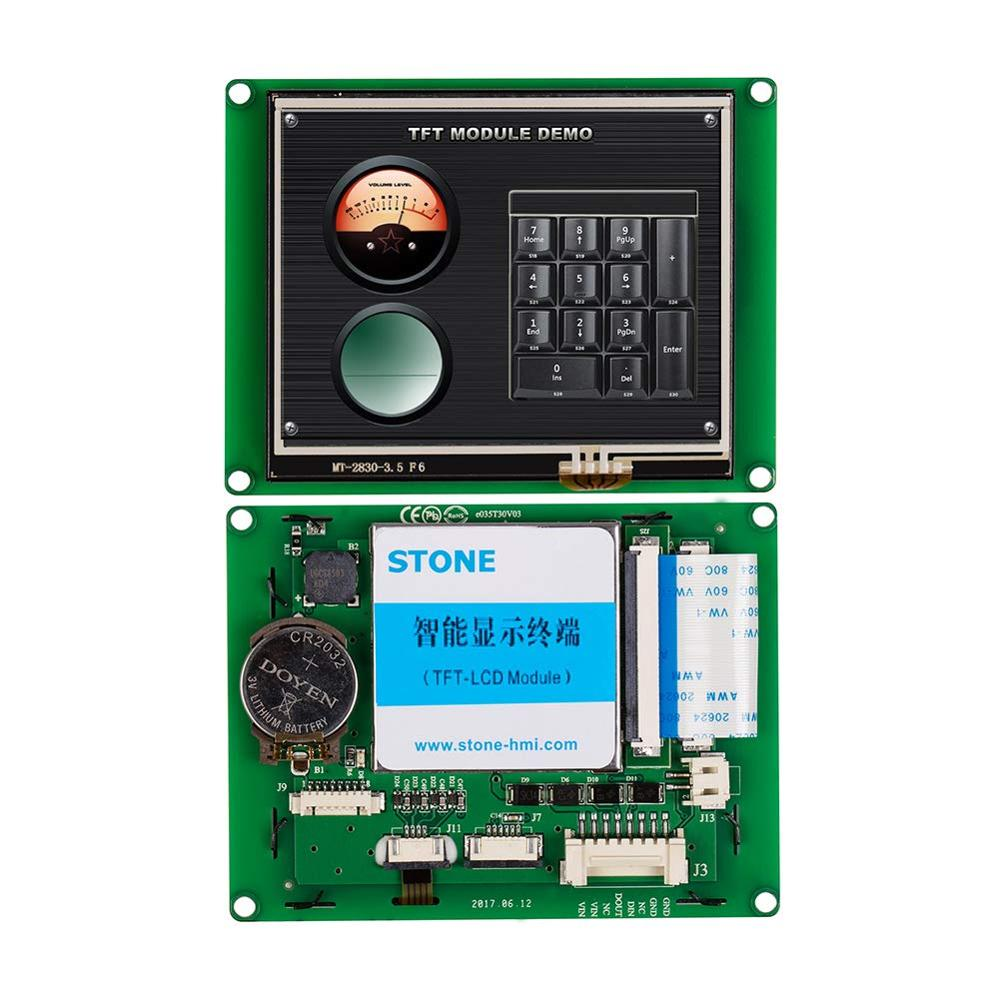 3.5 Inch Serial UART LCD Touch Screen With Software + Controller For Industrial Control