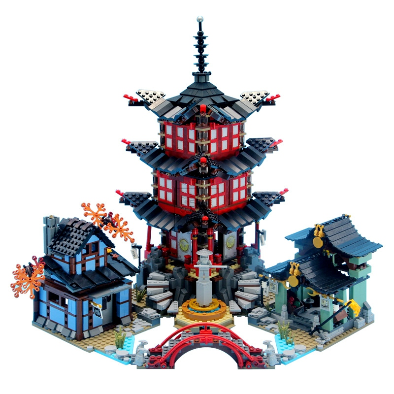Ninja The Temple Of Airjitzu With Figures Jay Kai 2031PCS Building Blocks Toys For Children Compatible For 70751 Ninja Toy Gifts