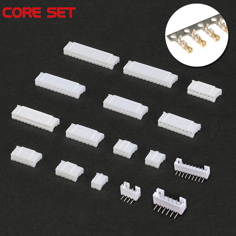 70pcs PH2.0 2p 3p 4p 5p 6p 7 Pin 2.0mm Pitch Terminal Kit  Housing  Pin Header JST Connector Wire Connectors Adaptor PH Kits