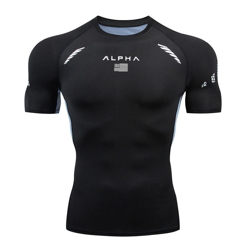 2020 Men's T-shirt Quick-drying T-shirts For Fitness Gym Men's Running T-shirts Short-sleeved Shirts Sportswear Training