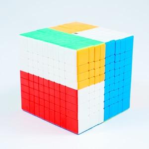 Image 4 - Originele Moyu MF9 9X9X9 Cube Magic Mofangjiaoshi Cube Meilong 9 Lagen 9X9 Speed Puzzel blokjes Vorm Twist Educatief Speelgoed