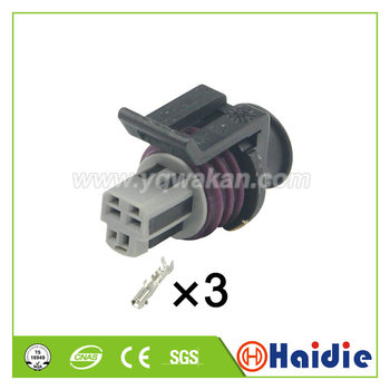 Free shipping 5sets 3pin Delphi LS TPS AEM MAP GT150 3Pin Female Auto Connector sensor throttle plug connector 15397275 15397149 image