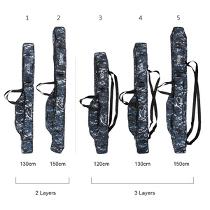 Image 2 - Portable Outdoor Fishing Bags Folding Fishing Rod Carrier Canvas Fishing Pole Tools Storage Bag Case Fishing Gear Tackle