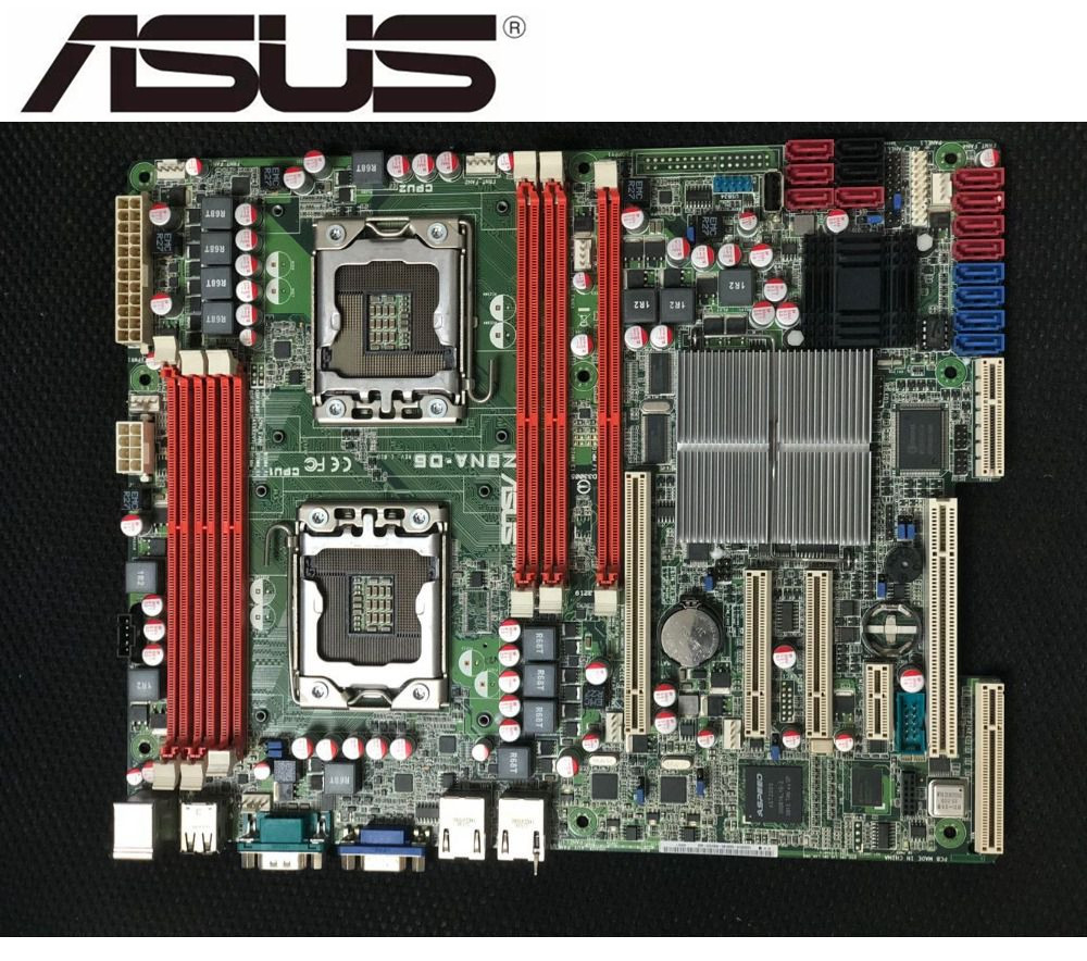 ASUS Desktop-Mainboard Dual-1366 server-Board Lga 1366 Z8NA-D6 DDR3 Original