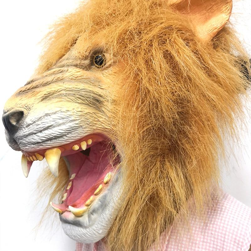 Novelty Halloween Lions Headgear Christmas Easter Costume Party Latex Animal Shaped Headgear d88