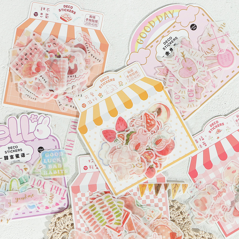 40pcs/pack Tasty Food Stationery Stickers Sealing Label Travel Sticker Diy Scrapbooking Diary Planner Albums Decoration