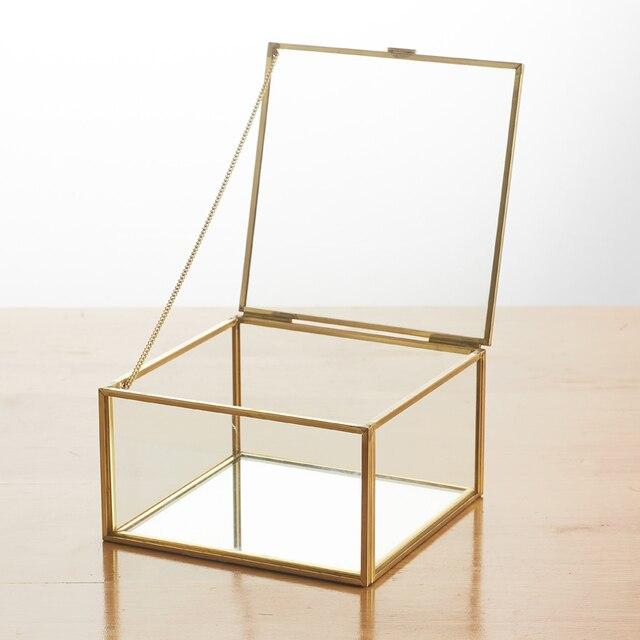תיבת זכוכית דקורטיבית לאחסון - דגם מיאמי 1