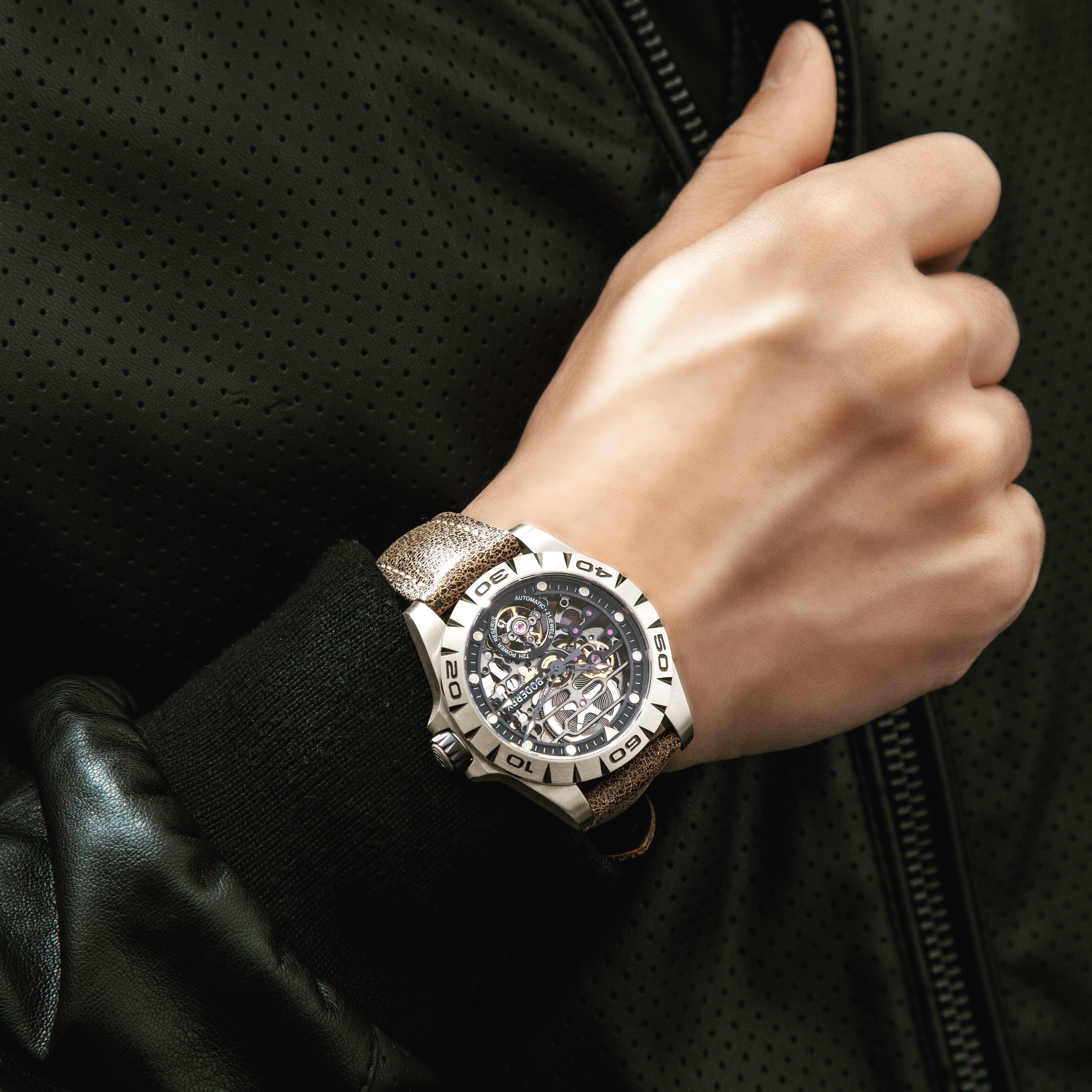Titanium Case 2020 Top Brand Luxury Men's Watches Skeleton Automatic Mechanical Watch For Men Waterproof Relogio Masculino