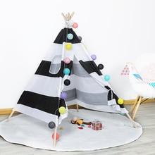 New Indian Children's Tent Portable Playpen for Children Folding Wigwam Play House Child Tipi Baby Room Decor Birthday Gift