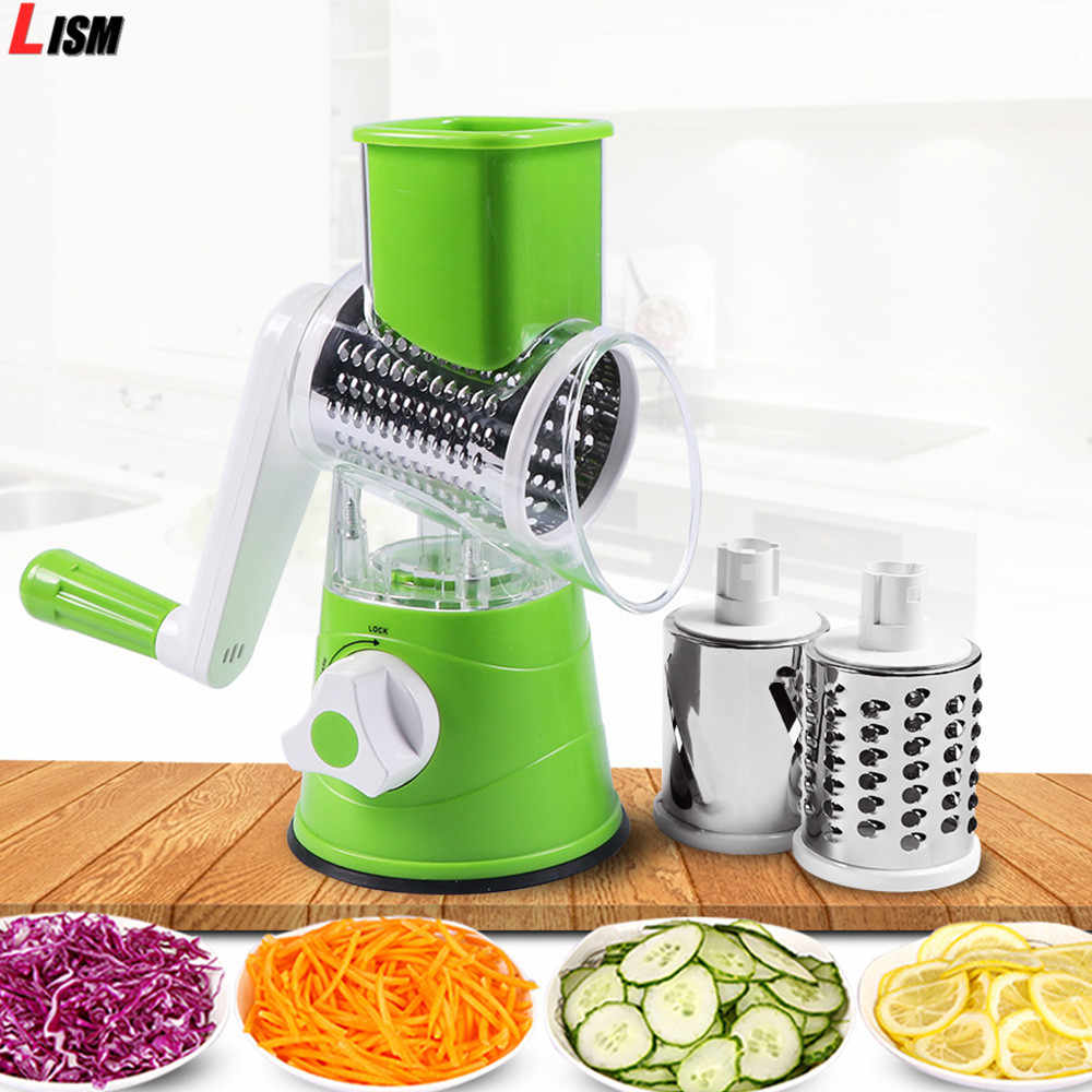 Rotary Parutan Manual Vegetable Cutter Abon Pisau Kentang Multi-Fungsi Mandoline Slicer Veget Chopper Aksesoris Dapur