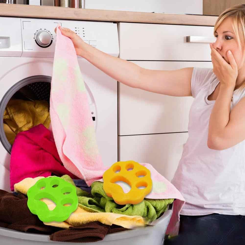 2 pçs bola de limpeza máquina de lavar roupa depilador cabelo do animal estimação removedor cabelo máquina secador pet depilação almofada 1.7