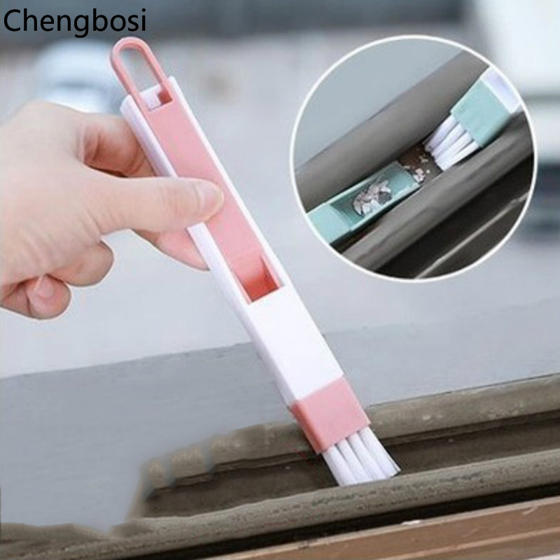 2 In 1 Multipurpose Window Groove Cleaning Brush Household Keyboard Home Kitchen Folding Brush Cleaning Tool Computer Cleaners-in Computer Cleaners from Computer & Office