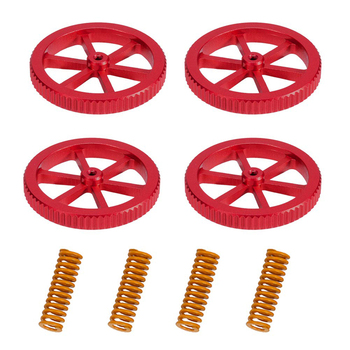 4PCS Upgraded Creality Aluminum Hand Twist Leveling Nut with Hot Bed Die Springs For Ender 3 Pro 5 Plus CR-20 - discount item  40% OFF Office Electronics