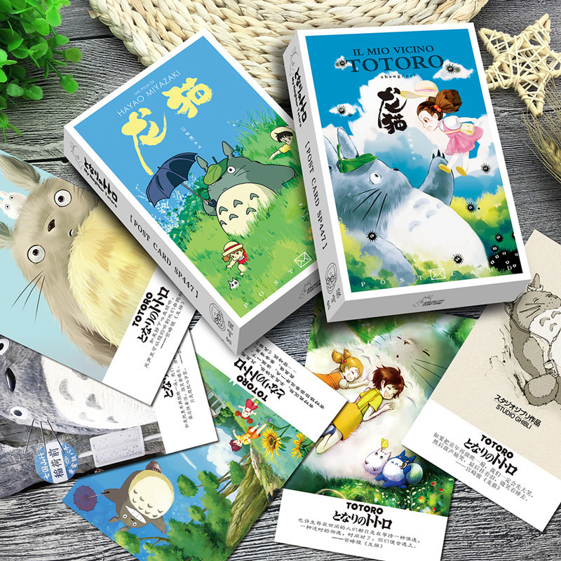 36 Pcs/pack Miyazaki Totoro Greeting Card Postcard Birthday Letter Envelope Gift Card Set Message Card