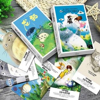 36 unids/pack tarjeta de felicitación de Miyazaki Totoro postal carta de cumpleaños sobre tarjeta de regalo Set de tarjeta de mensaje