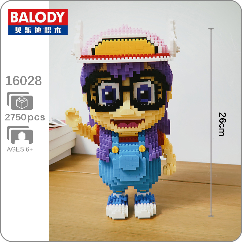 16028 BALODY MINI Blocks Girls DIY Kids Building Toys Puzzle Arale 2750 pcs