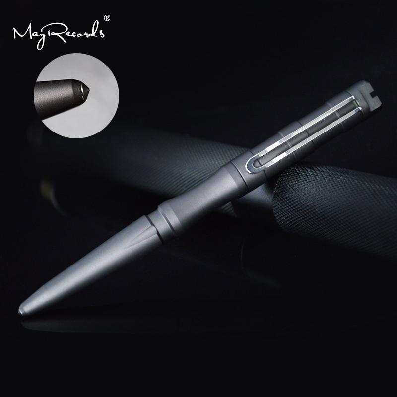 O Envio gratuito de New Estilo Self Defense Tactical Pen Segurança Pessoal Lápis Com a Função da Escrita Cabeça De Aço De Tungstênio