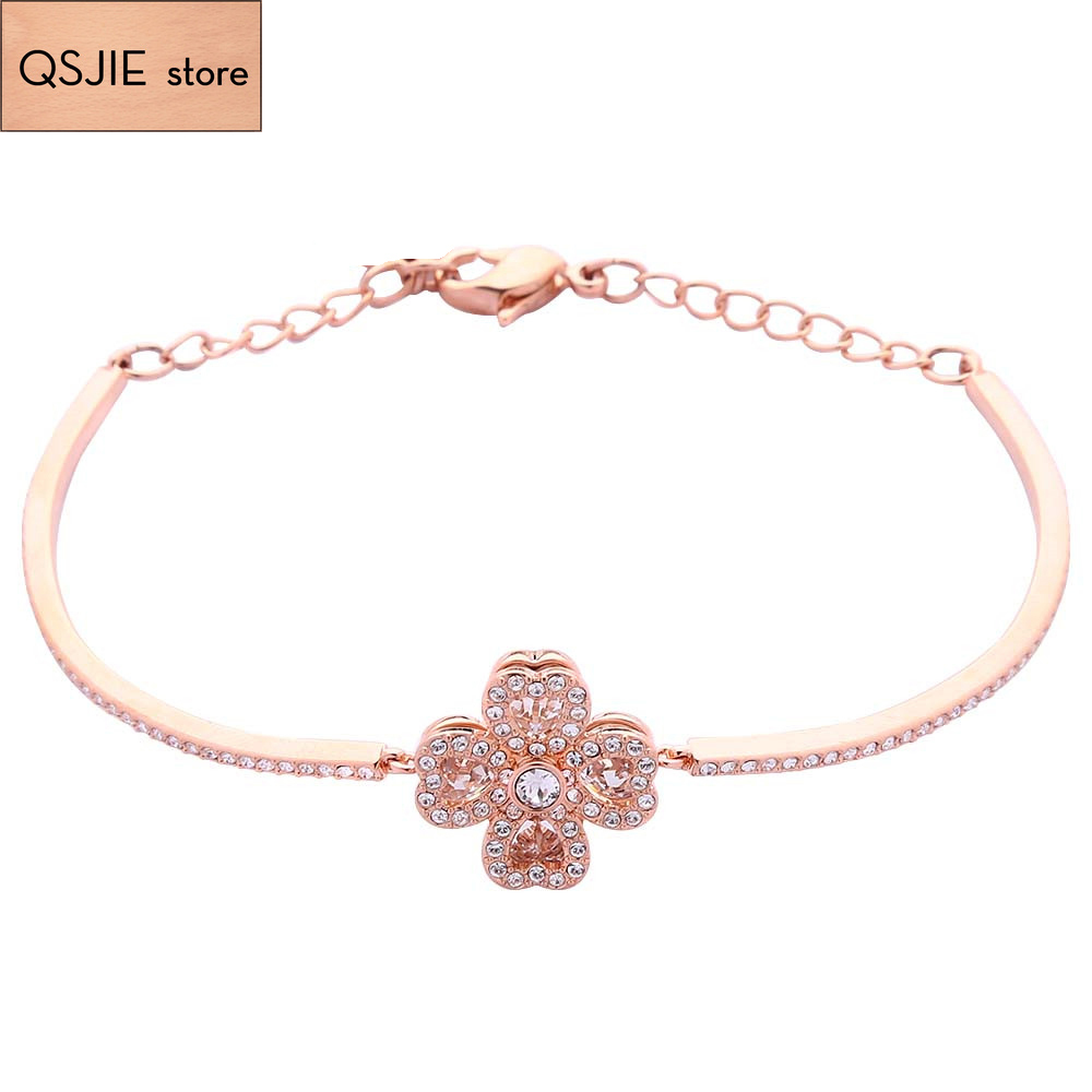 High-quality SWA original  Deli fashion revolving, with clover high-quality lady jewelry 1:1 Bracelet