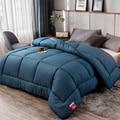 Двойное пуховое одеяло  постельные принадлежности  толстое теплое осеннее и зимнее пуховое одеяло  горячий стиль  отшлифованное вязаное зи...