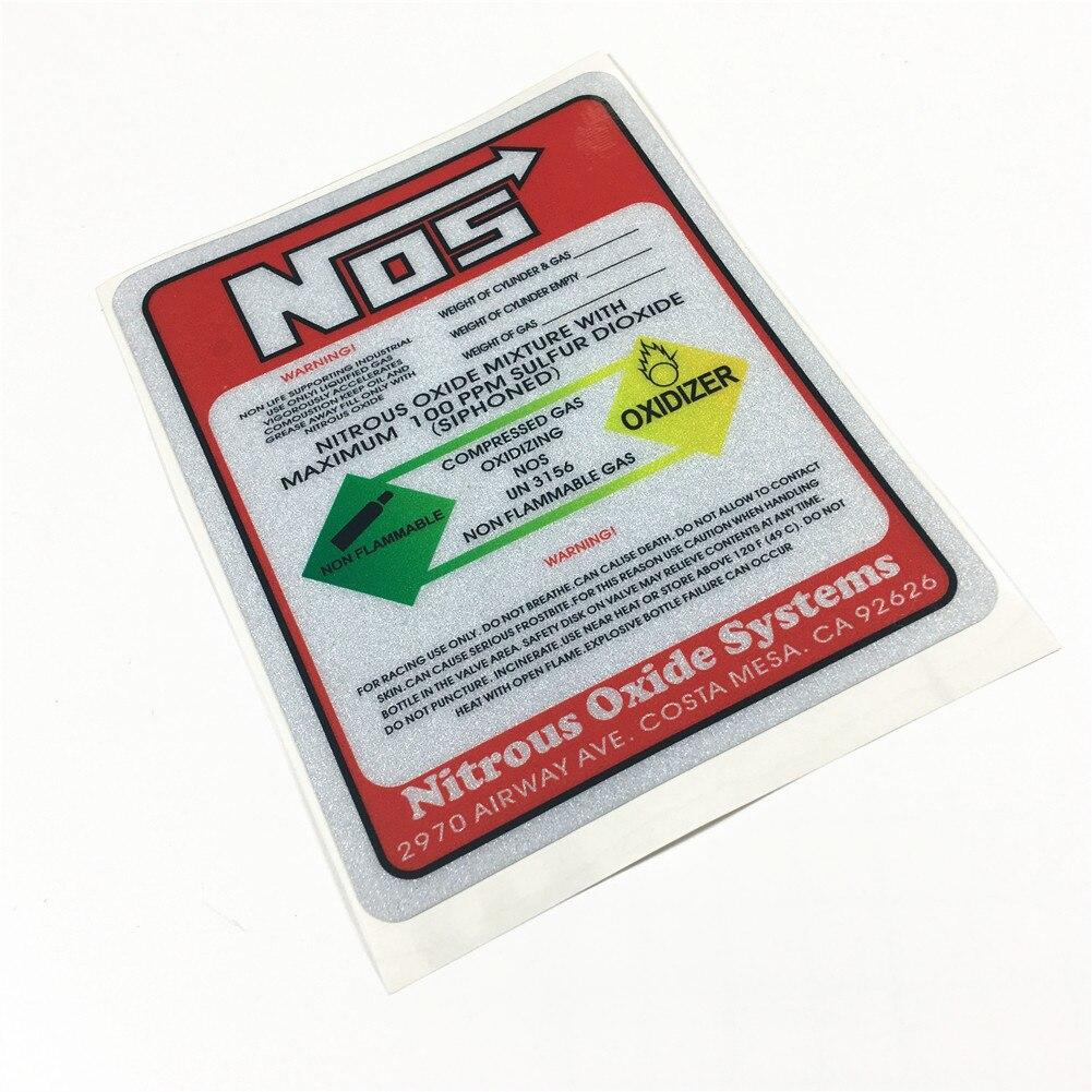 Estilo do carro decalque de vinil para fogo hidrante aviso óxido nitroso mistura oxidazer systemr nos adesivo vermelho