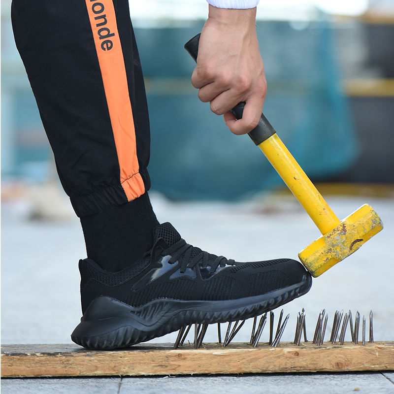 Otdoor Shoes Labor Shoes Men's Steel Bag Head Breathable Safty Guard Hiking Shoes Men Anti-smashing Anti-piercing Hunting Shoe