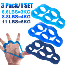 3 sztuk Finger Gripper ściskacz silikonowy na odporność zespół ściskacz Wrist nosze Finger Expander trenażer siłowy ćwiczenia