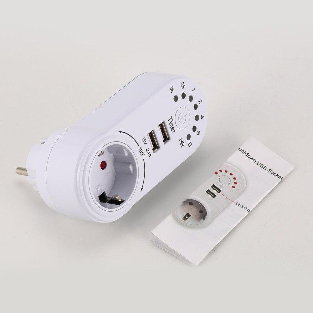 220V temporizador interruptor Mini USB 5V 2.1A adaptador toma de corriente enchufe de Cuenta atrás ahorro de energía controlador de tiempo electrónico Bombilla LED para lámpara foco GX53 4,2W 6W 8W 11,5W Ecola de Rusia 220V reemplazar 40W 60W 80W 100W 2 años de garantía