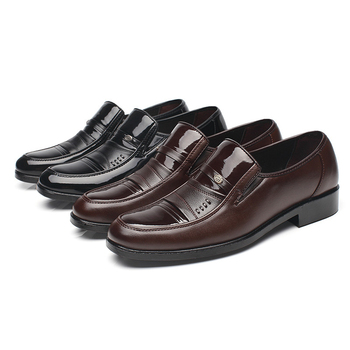 Classic Men Formal Leather Shoes Brand Cheap Derby Oxford for 2019 Elegant Comfort Business Mens Dress Loafers