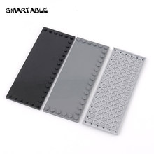 Carrelage intelligent 6x16 avec clous sur 3 bords, blocs de construction, pièces, ensemble de jouets éducatifs compatibles avec les grandes marques, 4 pièces/lot, cadeau, 6205