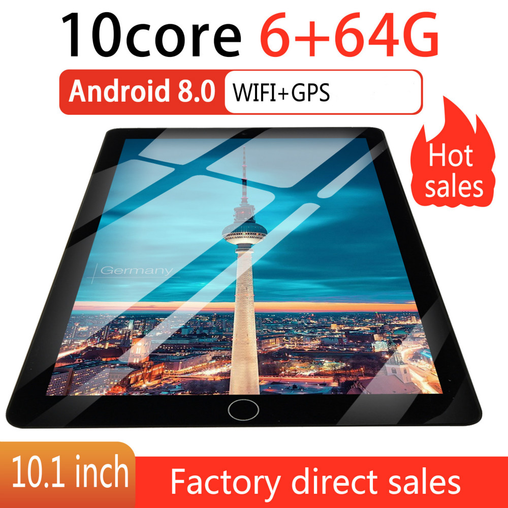 2.5 D Screen Metal 10 Inch Android 8.0 Tablet PC Octa Core Dual Camera 2.0MP/5.0MP RAM 8GB+ROM 64G/16G WiFi 2020