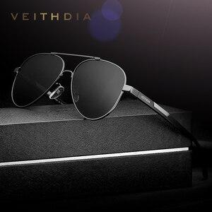 Image 2 - VEITHDIA lunettes de soleil photochromiques pour hommes accessoires lunettes, en aluminium magnésium, lentille UV400 polarisée, 6699