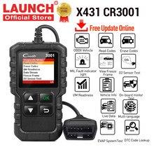 Lançamento obd2 scanner x431 cr3001 automotivo profissional ferramenta de diagnóstico obd 2 leitor código do motor ferramenta de verificação para carros pk elm327
