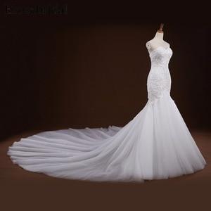 Image 4 - Mermaid Lace Appliques งานแต่งงานชุดยาวรถไฟ Beading เจ้าสาว Robe de mariee ชุดแต่งงาน vestido de noiva YY105