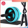Ролик и Скакалка без шума абдоминальное колесо Ab ролик с ковриком для упражнений оборудование для фитнеса Бодибилдинг
