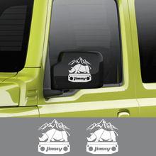 Pegatinas de rinoceronte Adventure para coche, calcomanías de vinilo para decoración para el cuerpo de automóviles, accesorios de calcomanías para Suzuki Jimny, 2 uds.