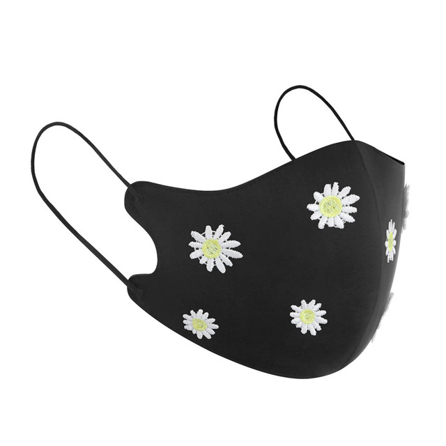 New Arrivals 2020 Washable Reusable Daisy Butterfly Pattern Face Mask 3D Cloth Dust proof Women Men Mouth Masks Unisex Korean 5 3