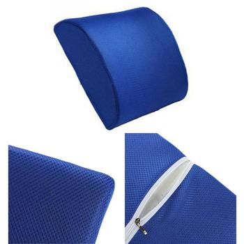 Cojín de soporte Lumbar de espuma viscoelástica, almohada para el asiento del coche o para el hogar, transpirable, desmontable y lavable a máquina para aliviar el dolor