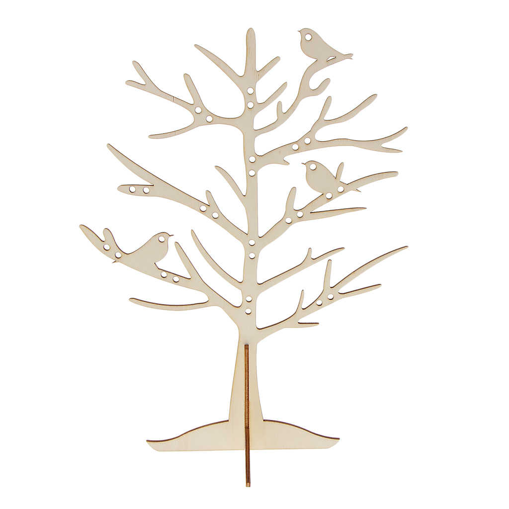 29 Holes Jewelry Display Stands Bird Tree Holder For Rings Bracelet Earrings Organizer Rack