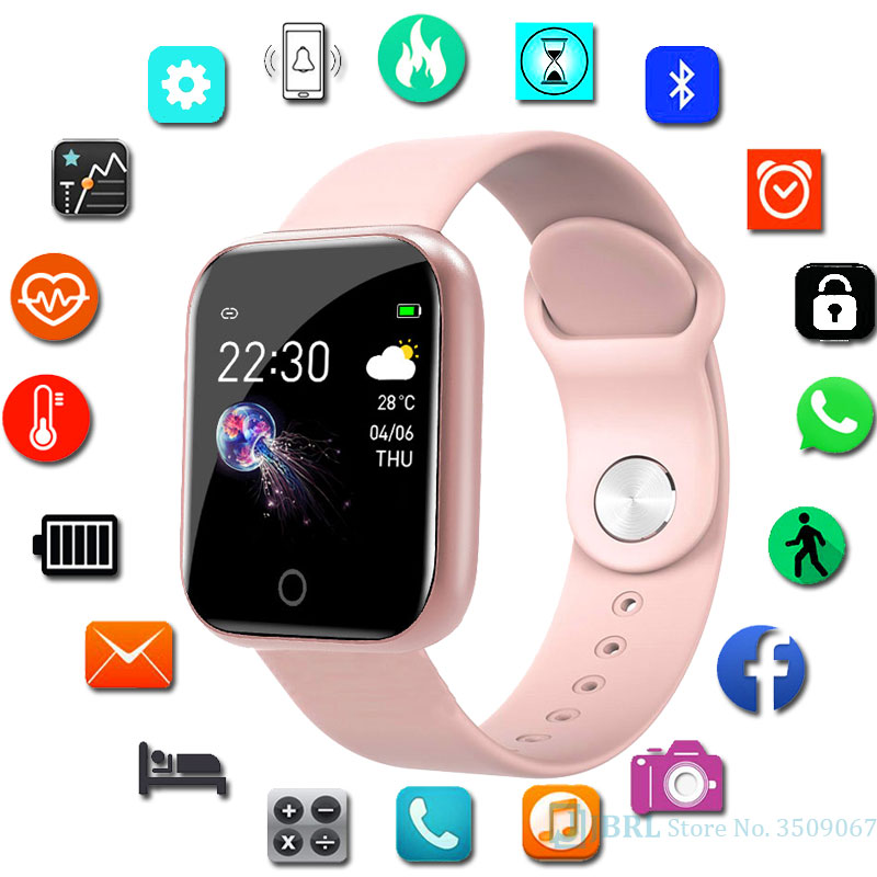 LED Digital Wrist Watches Child Fitness Tracker Color Screen Wristwatch Kid Watch Children Electronic Watches For Android IOS