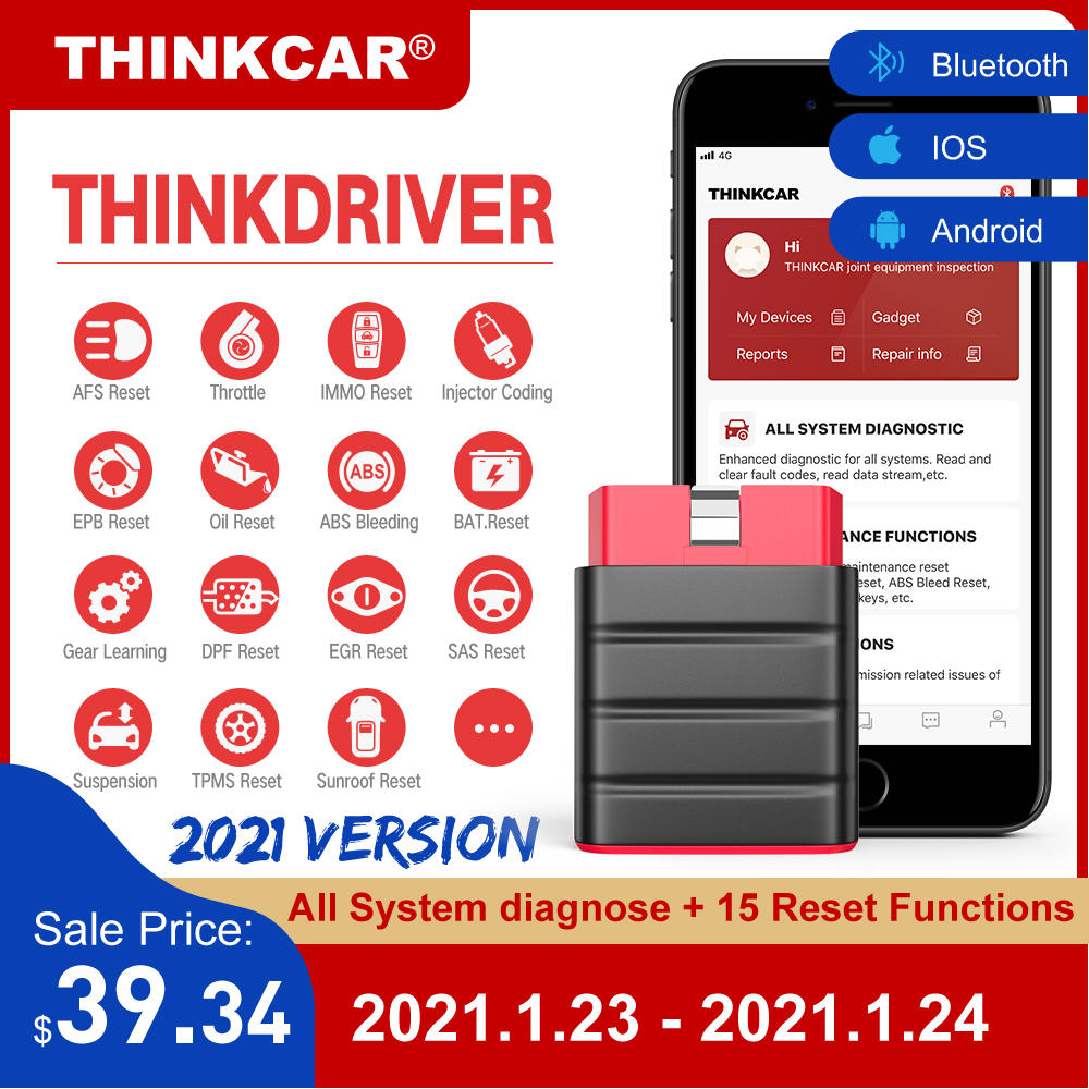 Scanner Code-Reader Car-Diagnostic Automotive Launch Thinkdriver Bluetooth Obd2 Obd Android