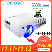 CRENOVA Video-Projector WIFI 6500 Lumens Home Cinema Android-6.0 Full-Hd Newest for 4k--2k