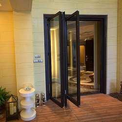 Hench de madera de China puertas, ventanas de aluminio bi-puertas plegables de fábrica al por mayor hc-a17